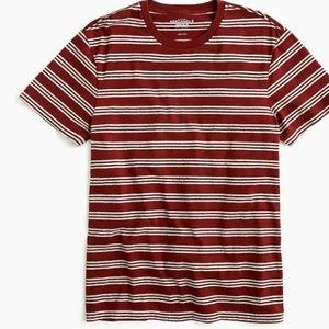 J.Crew Mercantile Broken-in T-shirt triple stripe